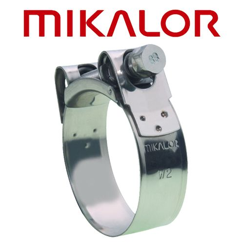 40-43 MM Mikalor T-Bolt Clamp W2 SUPRA Available Individually Or In Boxes For Best Price.